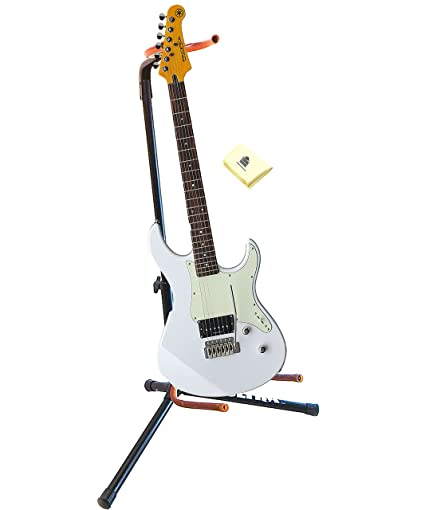Amazon.com: Yamaha PAC510V WH 6 String Solid Body Electric Guitar in White with Guitar Stand and Zorro Sounds Guitar Polish Cloth: Musical Instruments