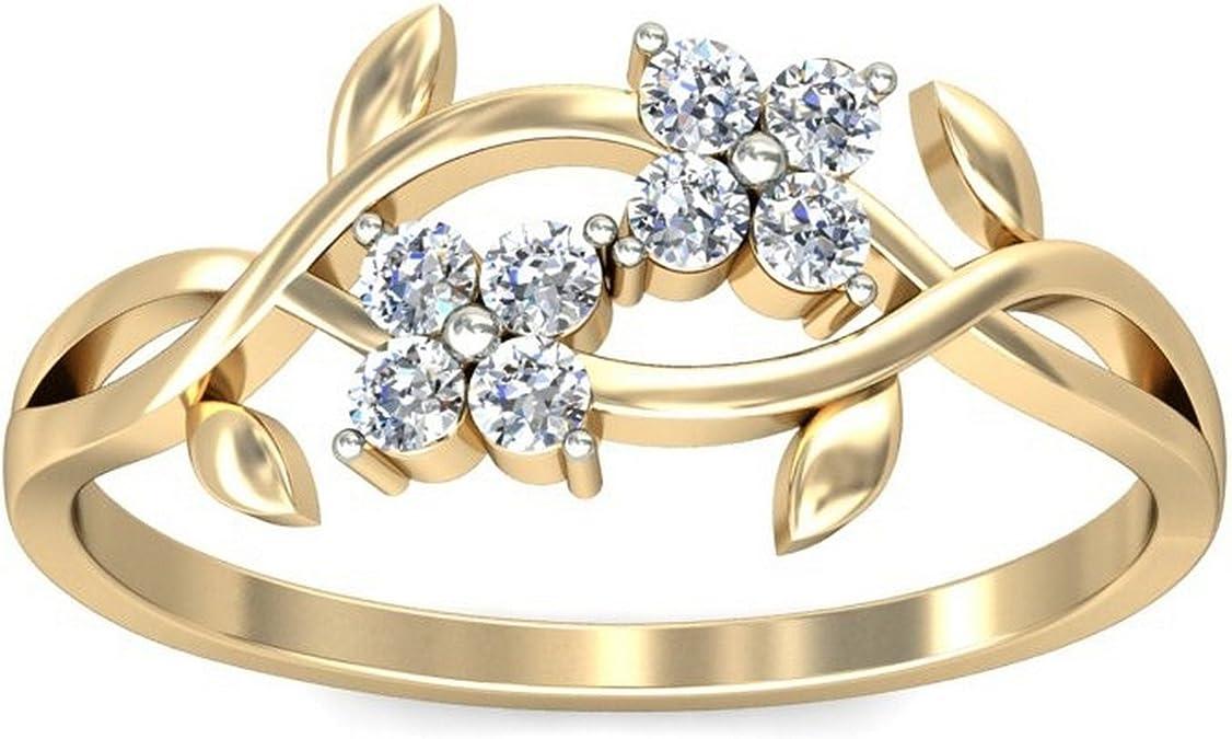Belle Diamante 14KT Yellow Gold and Diamond Ring Women