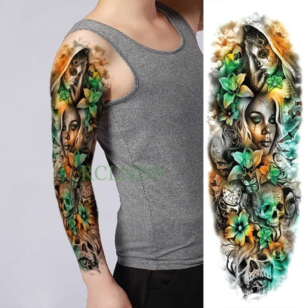 3pcsPegatina de Tatuaje a Prueba de Agua Fish Tree Flower ...