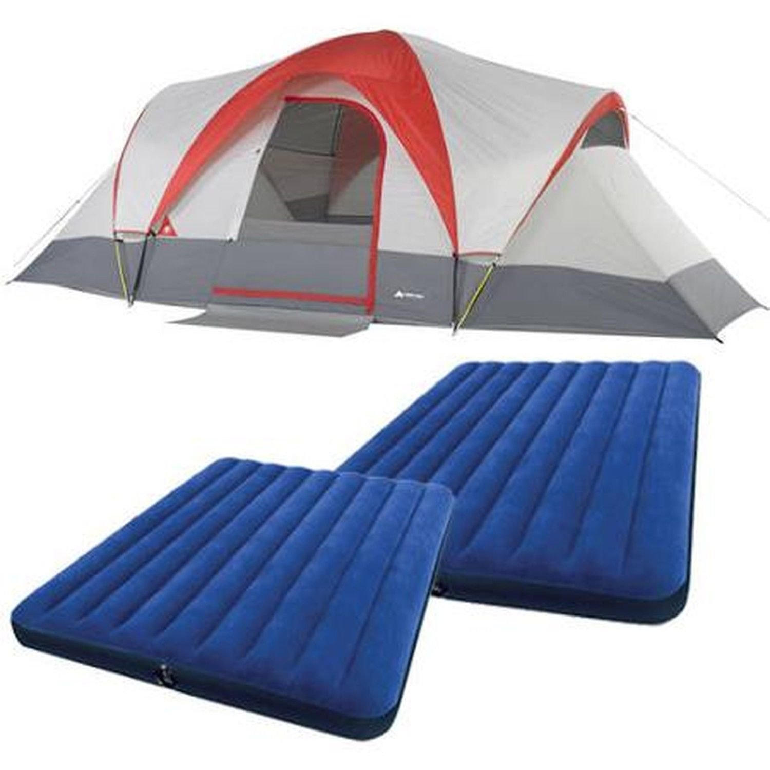 Amazon.com  Ozark Trail Weatherbuster 9 Person Dome Tent with Two Queen Airbeds Bundle  Sports u0026 Outdoors  sc 1 st  Amazon.com & Amazon.com : Ozark Trail Weatherbuster 9 Person Dome Tent with Two ...