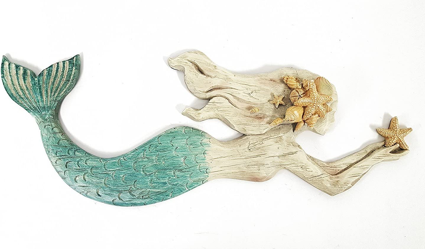 Swimming Mermaid Resin Wall Decor