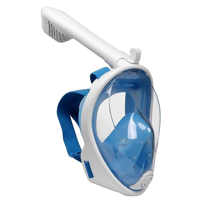 Emsmil Kinder 180°Schnorchelmaske Tauchmaske Schnorchelset Vollmaske Taucherbrille mit Anti Fog und Anti Leak Easybreath für