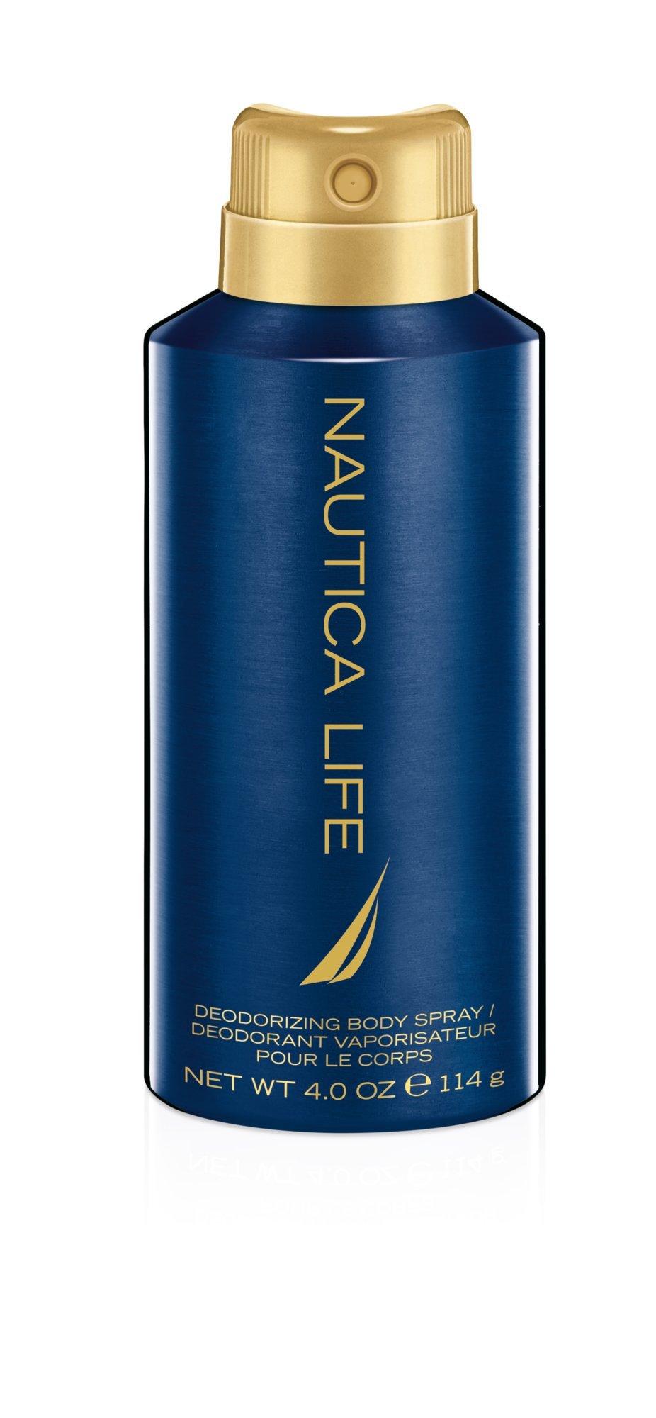 Nautica Life Body Spray, 4 Fluid Ounce