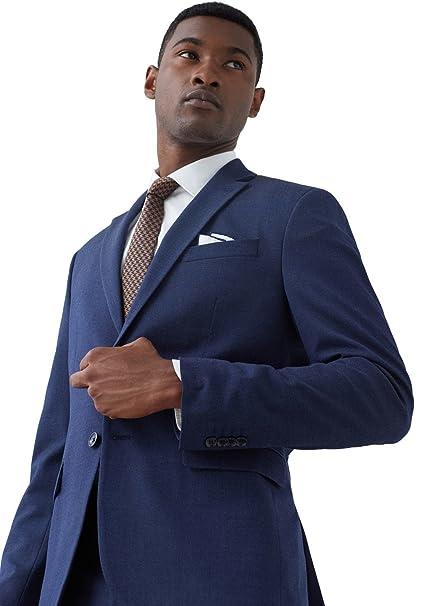 Hombre Mango Chaqueta Para De 56Amazon Man Azul Traje Oscuro N80mvnw