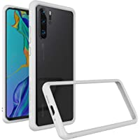 RhinoShield Coque Bumper de Protection pour Huawei P30 Pro CrashGuard | Etui Fin et léger Absorption des Chocs Design Minimaliste - Compatible Recharge Induction [Protection Chutes 3.5m] - Noir