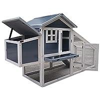 FeelGoodUK NCH10 Kunststoff und Holz Hühnerstall Hen House Geflügel Ark Home Nest Run Coup