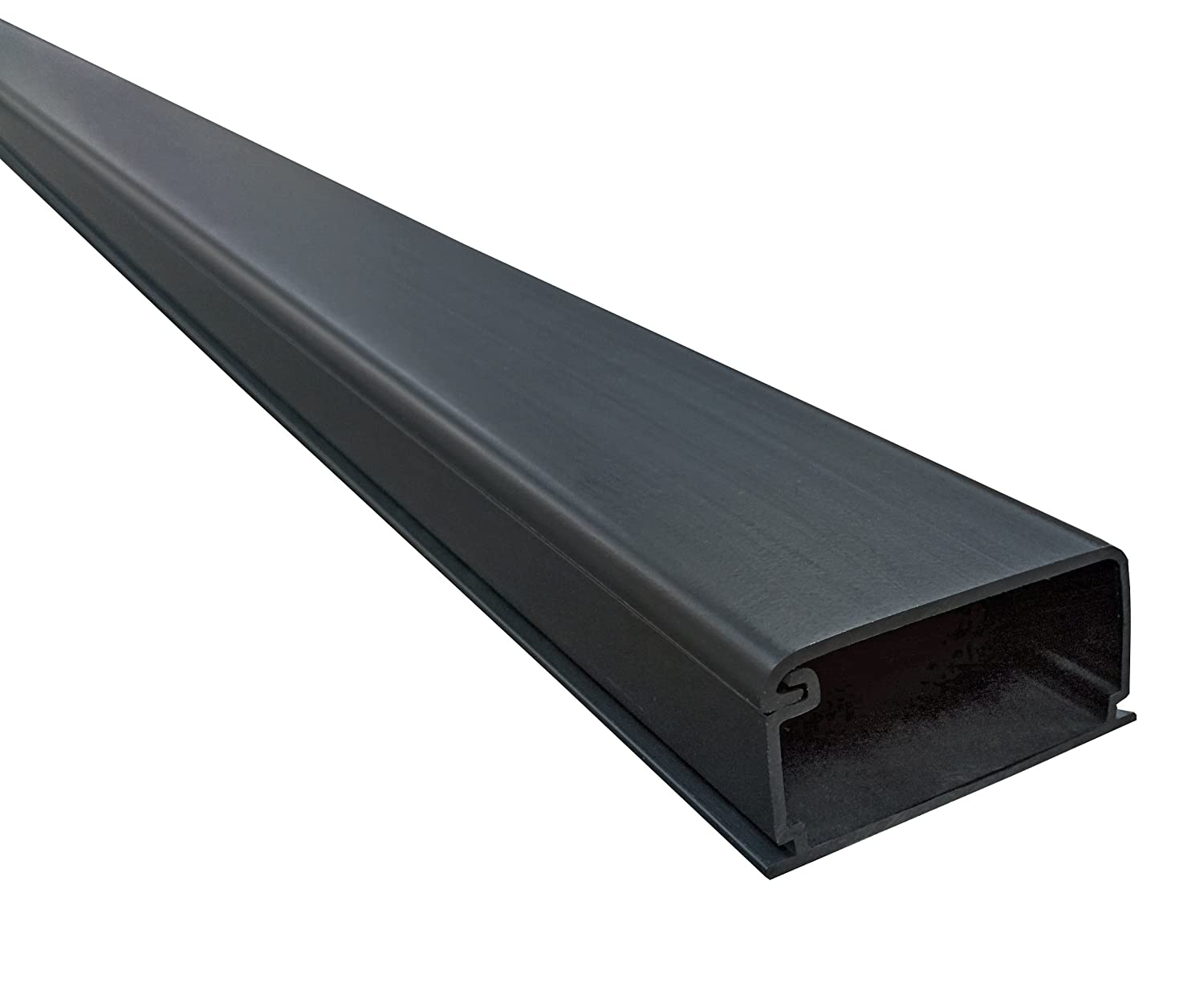 "Extra Large Latching Cable Raceway - 2"" x 1"" Channel Size - 1 Stick - 5FT Long - Black Electriduct 4330219086"