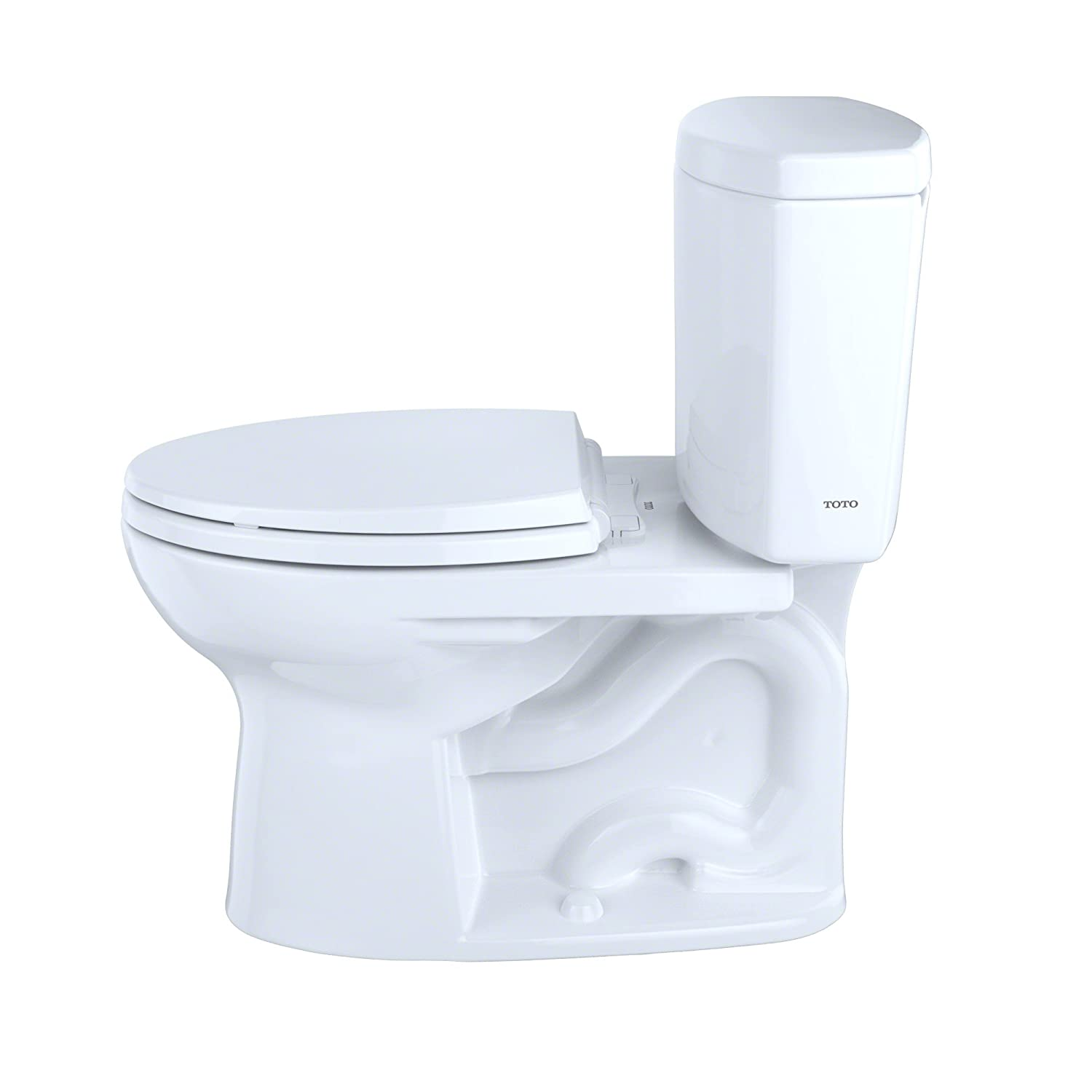 TOTO CST454CEFG#12 Drake II 2-Piece Toilet with Elongated Bowl and ...
