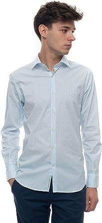 Brooksfield Camisa Casual Celeste Algodón Hombre: Amazon.es: Ropa y accesorios