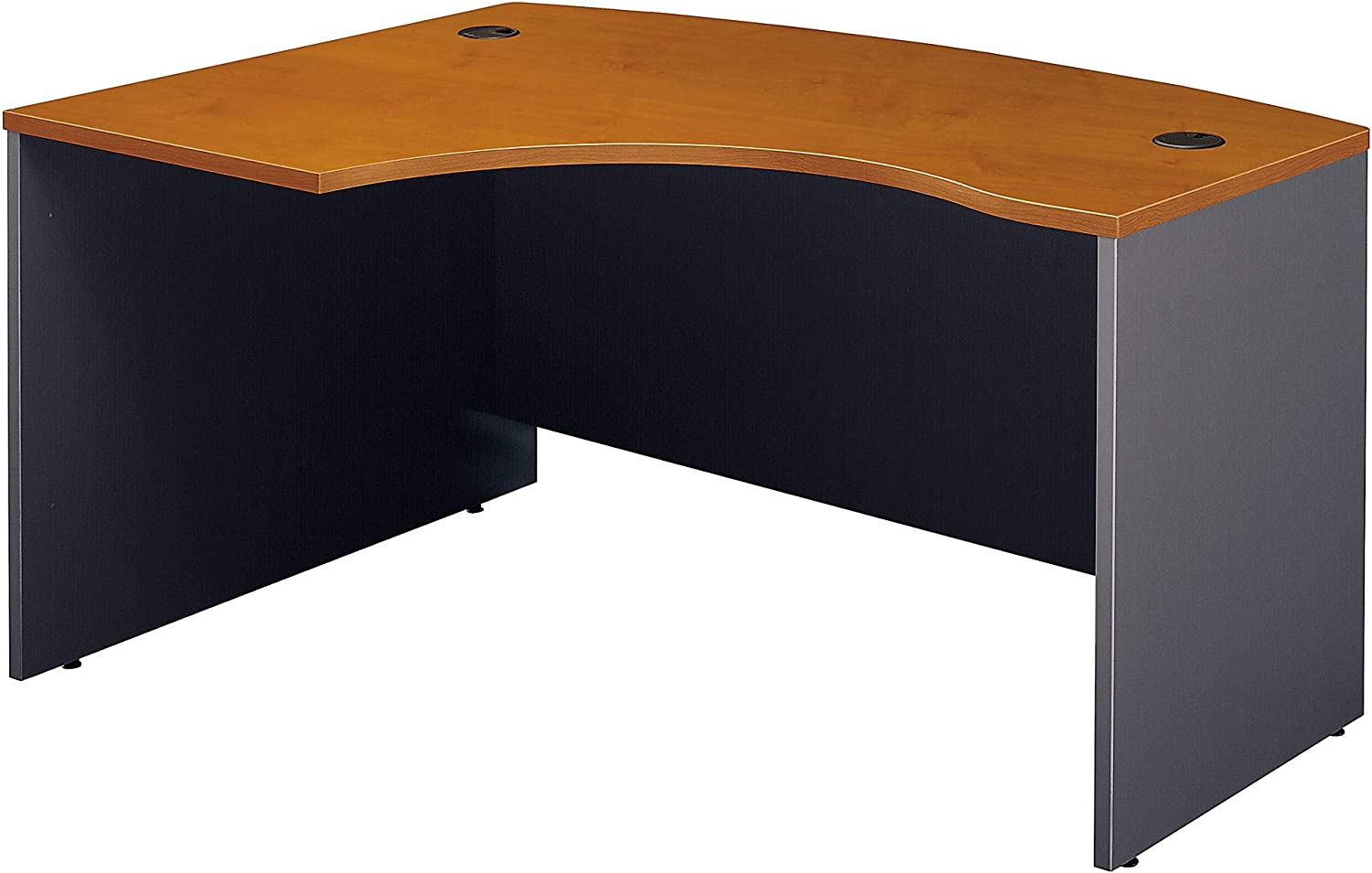 Bush Business Furniture Series C Collection 60W x 43D Left Hand L-Bow Desk Shell in Natural Cherry