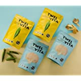 TwelVita All Natural Baked Gluten-Free Vegetable Chips, Variety Pack, 1.4 Ounce (Pack of 6 - 3 Okra, 3 Mushroom)