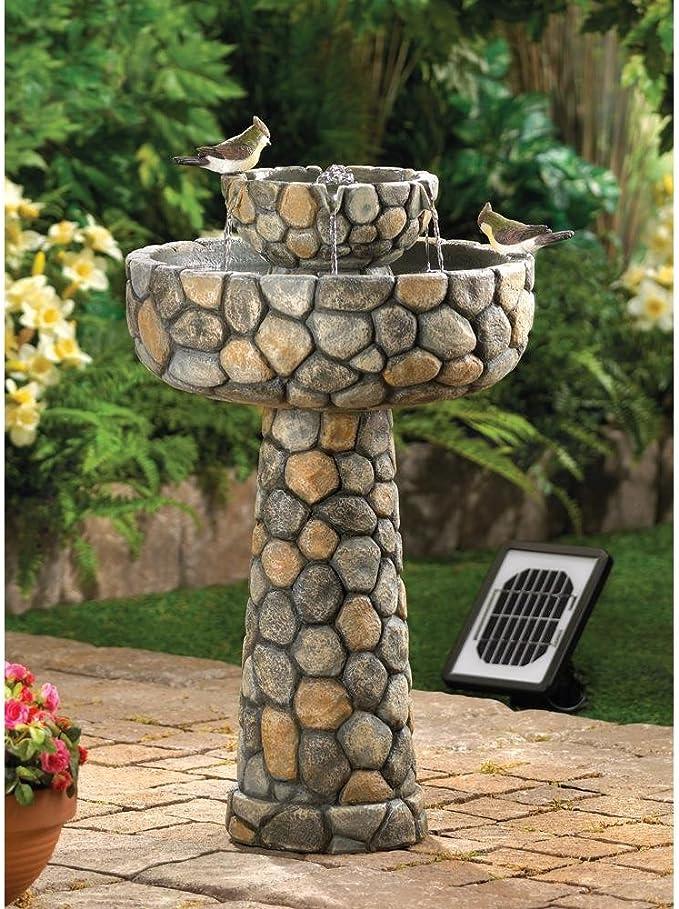 Fuentes al aire libre bomba de pozo de los deseos decoración de jardín solar de piedra fuente de agua eléctrico: Amazon.es: Jardín