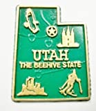 Utah the Beehive State Map Fridge Magnet