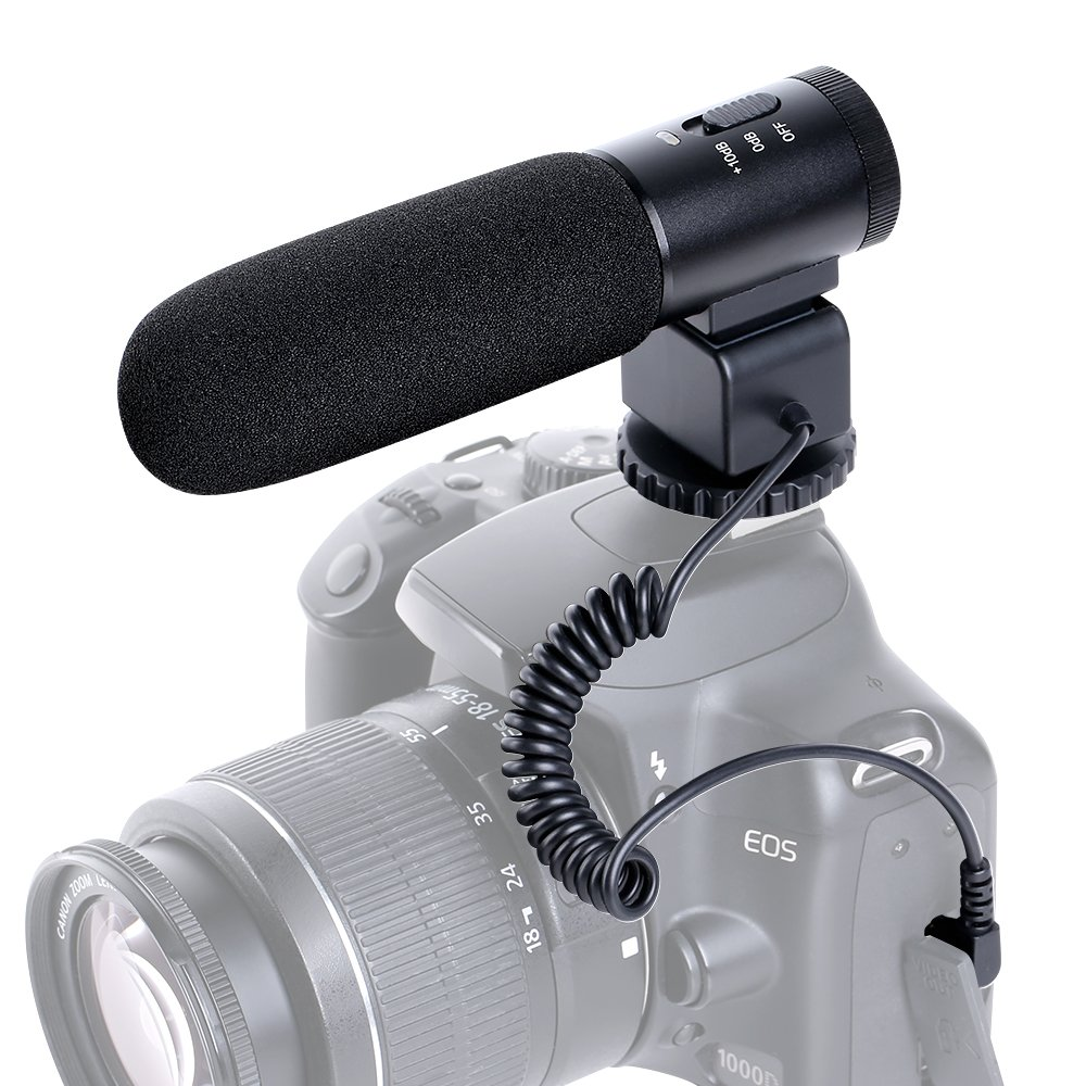 Shotgun Camera Microphone, Beschoi Professional Photography Interview Mic Recording for Nikon Canon DSLR Camera (Need 3.5mm Interface)