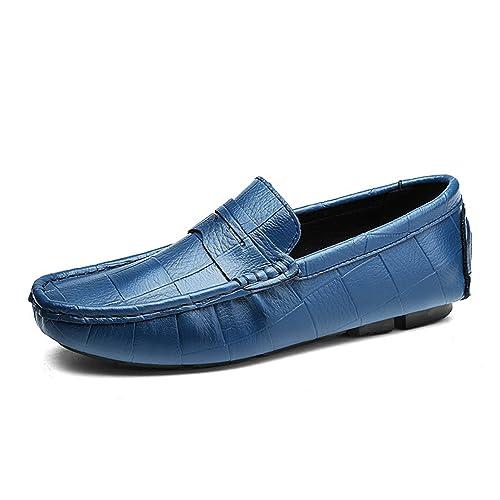 Esthesis Hombre Mocasines de Cuero Genuino Mocasines Suaves y Transpirables Zapatos de Conducción: Amazon.es: Zapatos y complementos