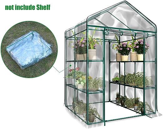 Cubierta de invernadero de jardín para invierno de repuesto y en PVC para invernadero de plantas (solo funda, sin soporte de hierro, maceta): Amazon.es: Jardín