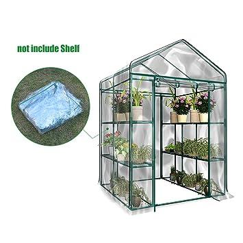 Serre transparente en PVC, tente de jardin pour intérieur ou extérieur,  pour semis, culture fines herbes ou fleurs (armature non incluse)