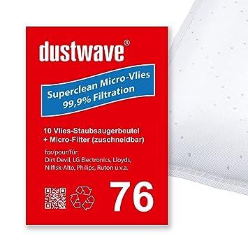 Pack de ahorro - 10 bolsas para aspiradoras LG - Electronics 6000 Turbo - Aspiradora de dustwave® Marca Bolsa para el polvo Fabricado en Alemania + Incluye ...