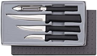 product image for Rada Cutlery Meal Prep 4-Piece Paring Knife Gift Set – Stainless Steel Blades and Steel Resin Handles
