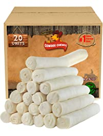 Retriever Roll 9-10 inches (20 Pack) Extra Thick Dog Treat Chew - Large and Medium Dogs