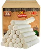 "Retriever roll 9-10"" (20 Pack) All Natural Rawhide Product"