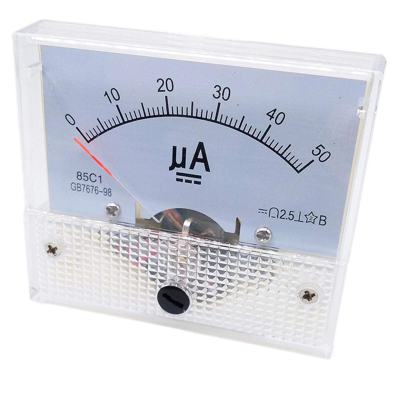 DC 0~50uA Class 1.5 Accuracy Analog Amperemeter Panel Meter Gauge 85C1