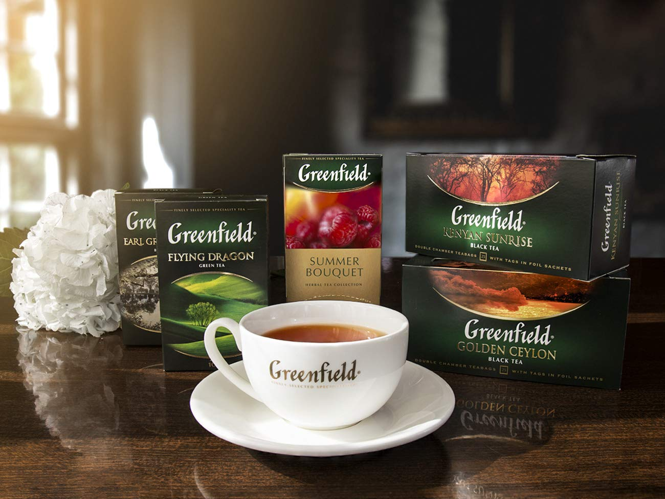 Greenfield Golden Ceylon Сlassic Collection Black Tea Finely Selected Speciality Tea 100 Double Chamber Teabags With Tags in Foil Sachets