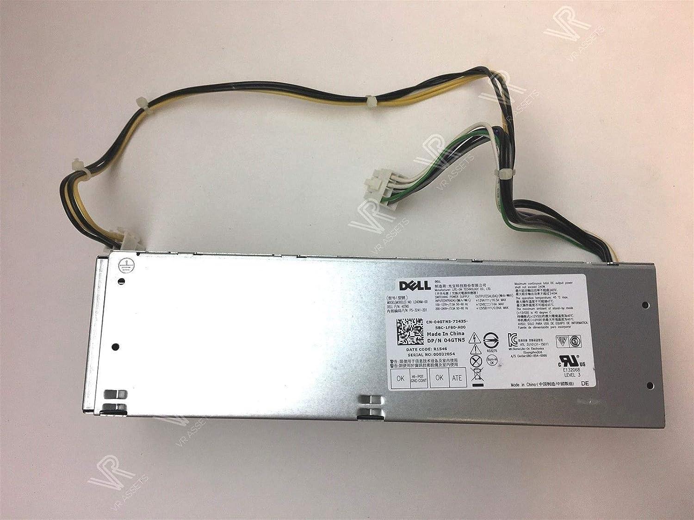 NEW Genuine original DELL 240W Slim Power Supply for Small Form Factor ( SFF ) Desktop PC model - Optiplex 5040 SFF (Renewed)