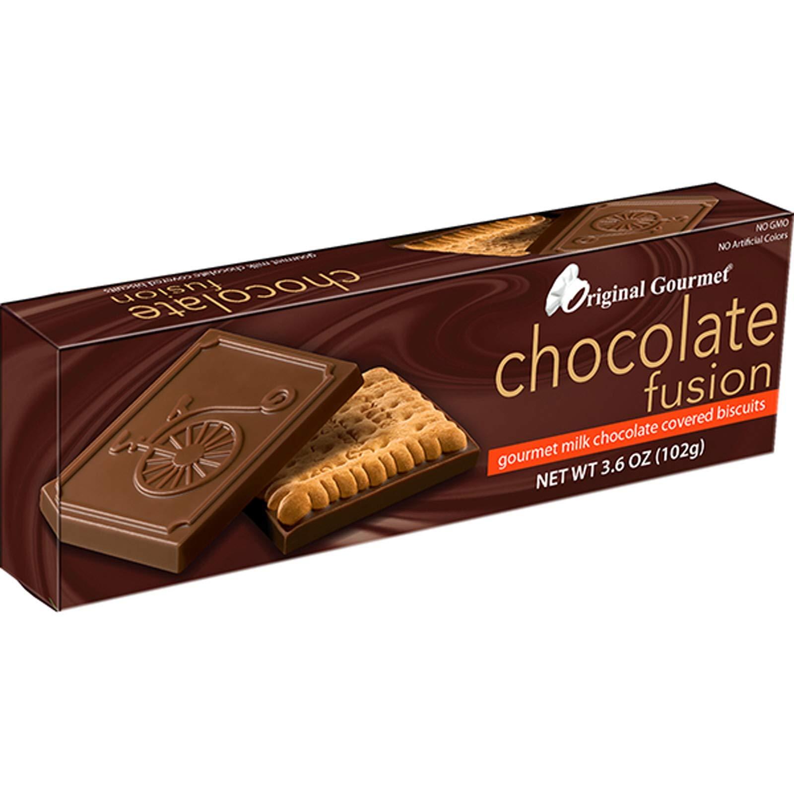 (Pack of 36) Original Gourmet Chocolate Biscuits Fusion Milk Chocolate, 3.6oz