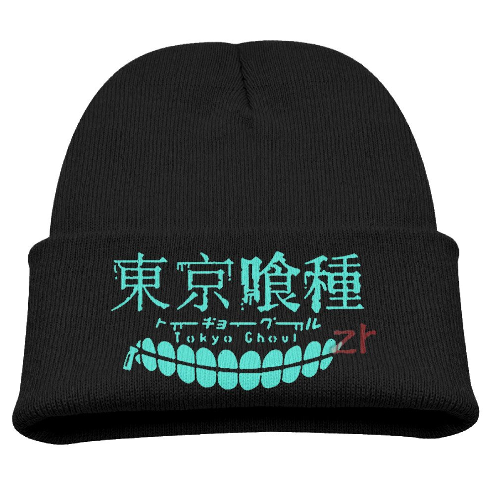 Anime Tokyo Ghoul Kaneki Ken Luminous Warm Winter Hat Knit Beanie Skull Cap Cuff Beanie Hat Winter Hats Children Larenoto