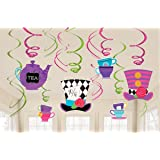 Alice In Wonderland Mad Hatter Tea Party Swirls by Amscan