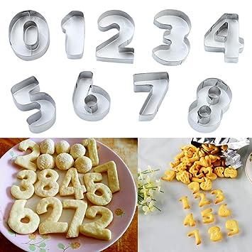 igemy numérico símbolos galletas Cookie Cutter molde herramienta ...