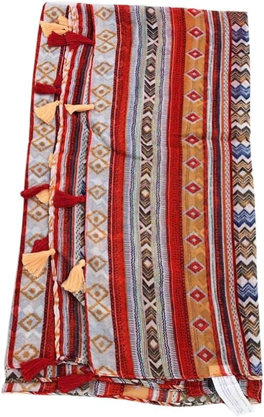 Folewr-8 - Toallas de playa de color crema solar, bufanda, falda, monedero para mujer, mezcla de algodón y lino, para la playa, viaje, acampada, natación G: Amazon.es: Hogar