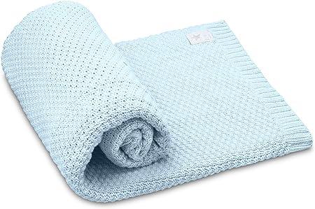 elimeli Baby manta colcha de punto (100% algodón perfecto para ...