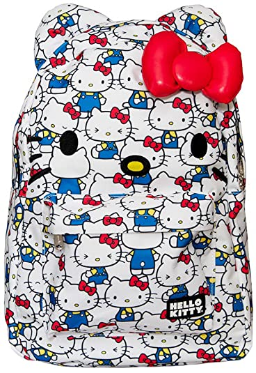 1409528c3be7 Image Unavailable. Image not available for. Color  Loungefly Hello Kitty  Vintage Print Backpack