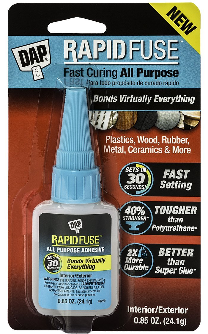 Dap 00155 0.85 Ounce RapidFuse All Purpose Adhesive, Clear 6 Pack