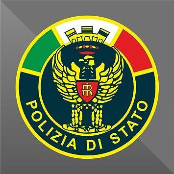Erreinge Sticker Polizia Di Stato Italia Italy Italie Italien