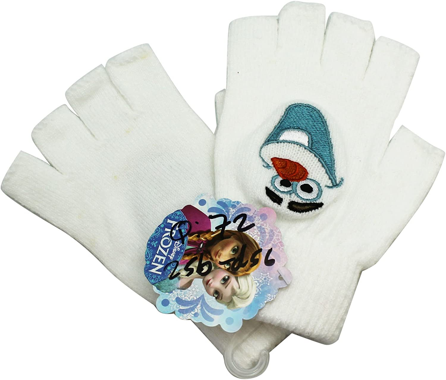 Concept One Frozen Olaf Fingerless Gloves Embroidered