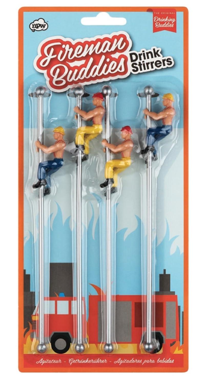 NPW-USA The Original Drinking Buddies, Fireman's Buddies Pole Drink Stirrers NPW53197
