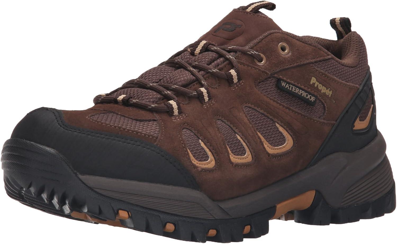 Propet Men s Ridge Walker Low Hiking Boot Ankle Bootie, Brown, 10.5 3E US