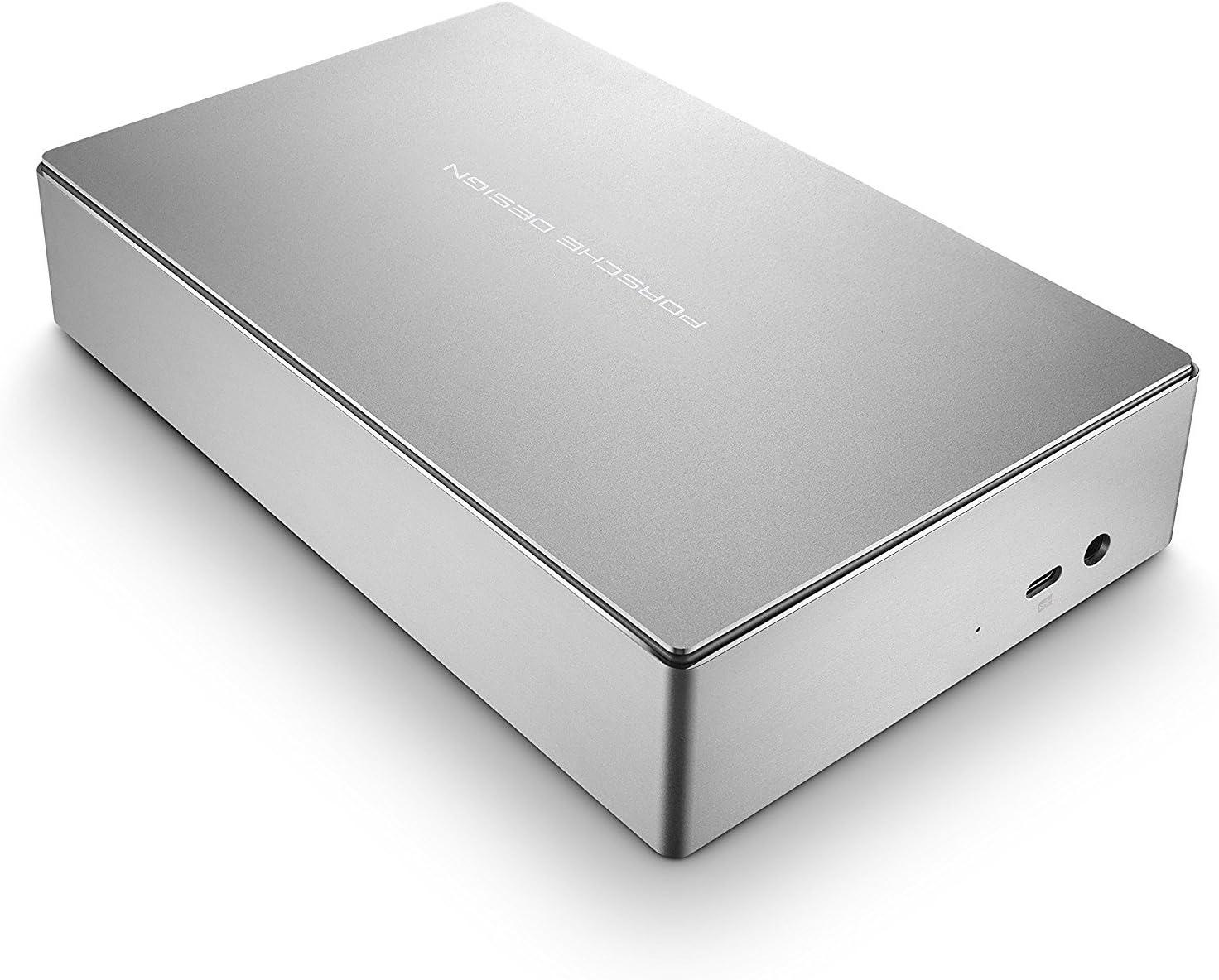 disques durs externes 3.1 Gen 1 , 5000 Mbit//s, Argent 6000 Go, USB Type-C, 3.0 LaCie Porsche Design Desktop Drive 6000Go Argent disque dur externe