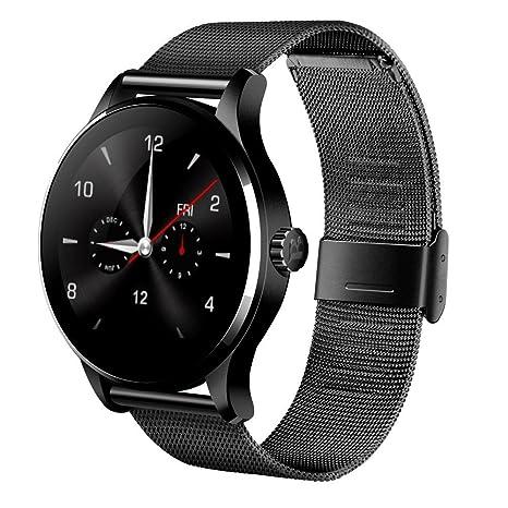 witmood k88h redondo reloj inteligente Monitor de ritmo cardíaco reloj de pulsera con cámara remota reloj