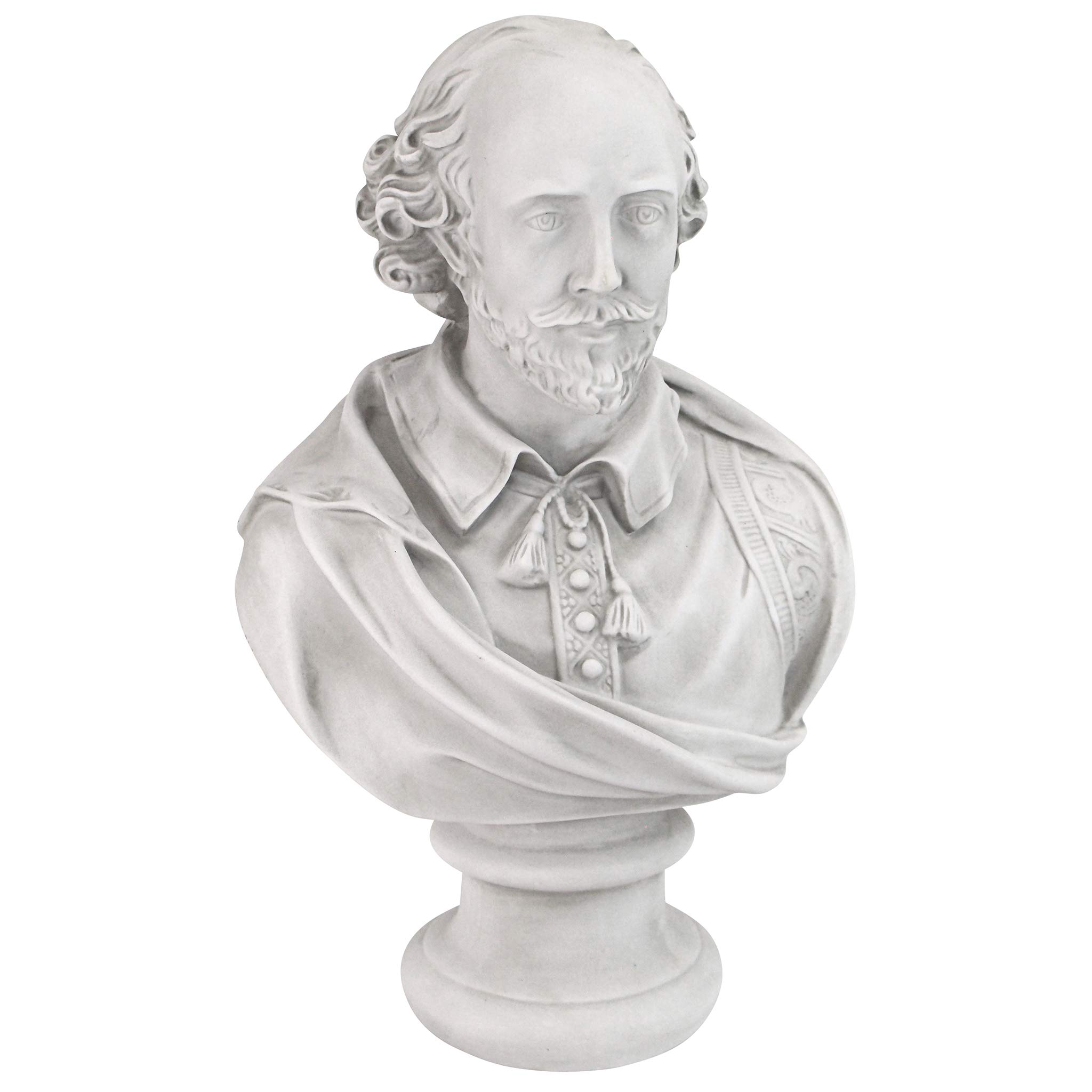 Design Toscano William Shakespeare Bust Statue, Large, 18 Inch, Polyresin, Antique Stone