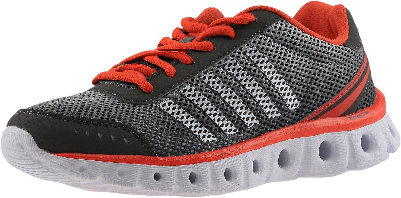 K-Swiss Women's X Lite Athletic CMF Cross-Trainer Shoe, Charcoal/Cherry Tomato, 8.5 M US