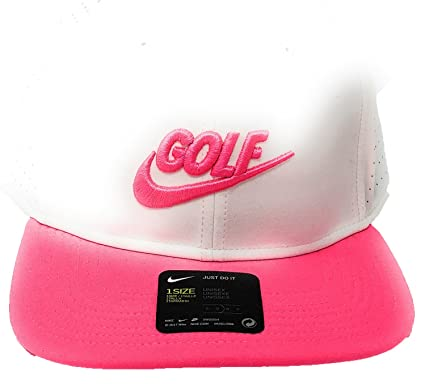 15f53c538880e Image Unavailable. Image not available for. Color  Nike Pro Performance  Snap Back Golf Cap 2017 White Anthracite Hyper Pink One Size