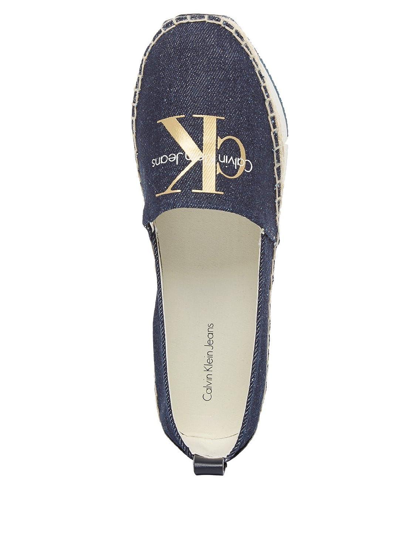 Mocasines para mujer, color Azul , marca CALVIN KLEIN, modelo Mocasines Para Mujer CALVIN KLEIN R4087 Azul: Amazon.es: Zapatos y complementos
