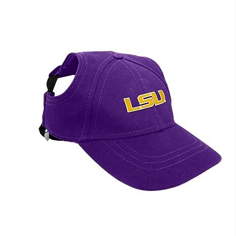 2e13f47f4ded6 Amazon.com   LSU Tigers Pet Baseball Hat - Small   Pet Supplies