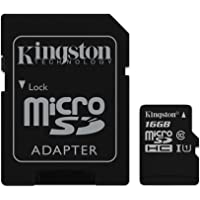 Kingston 16GB Class 10 UHS-I Micro SDHC Memory Card with SD Adapter(SDC10G2/16GB) S