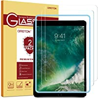 OMOTON [2 Stück] Panzerglas Schutzfolie iPad 9.7 Zoll 2018, iPad 2017,iPad Pro 9.7 Zoll, iPad Air 3/2/1,mit Schablone,9H Härte, Anti-Kratzer, Anti-Öl, Anti-Bläschen