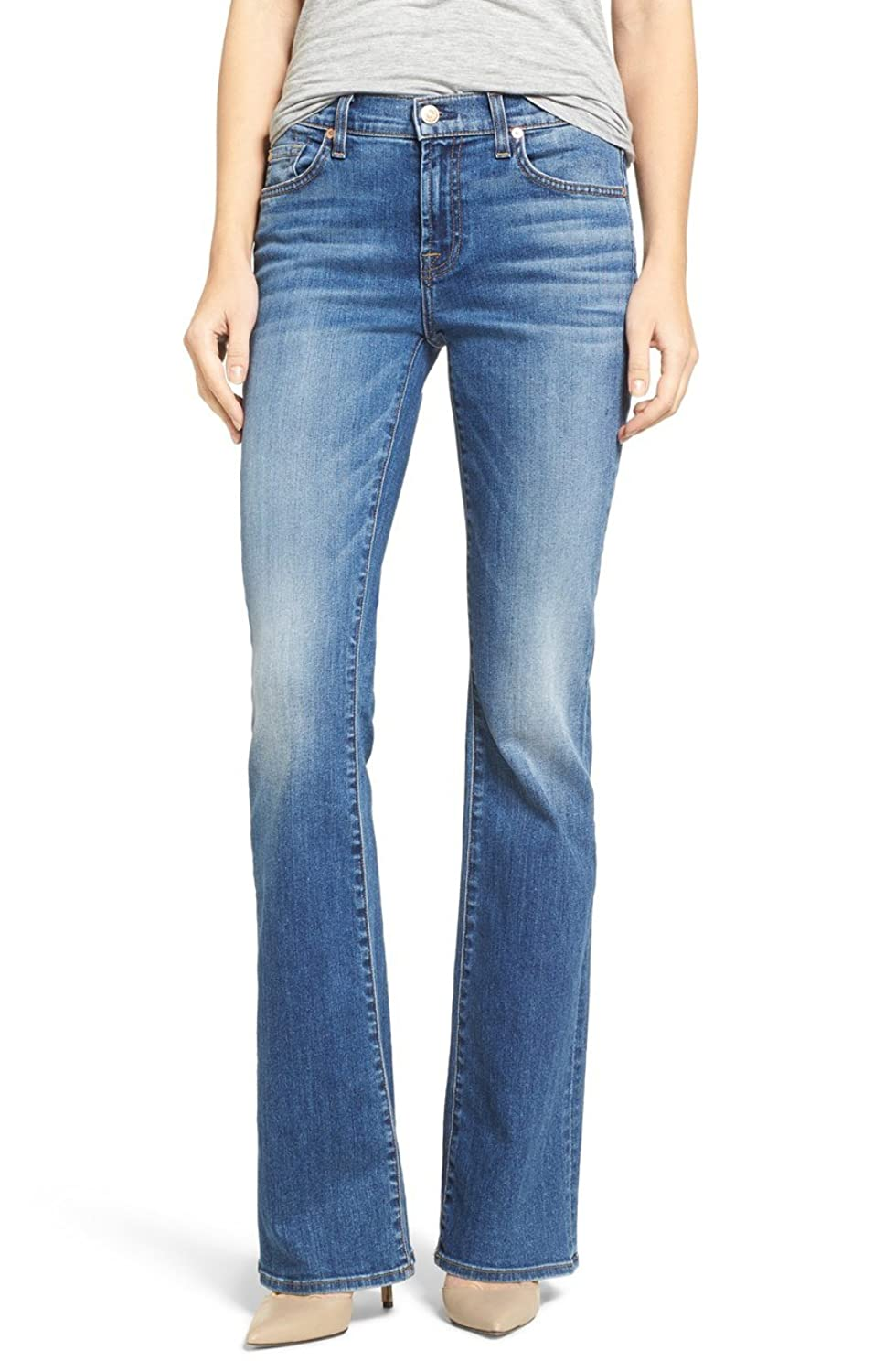 7 For All Mankind Women's AU075S424 BootCut Wide Leg Denim Jeans 27 X 31